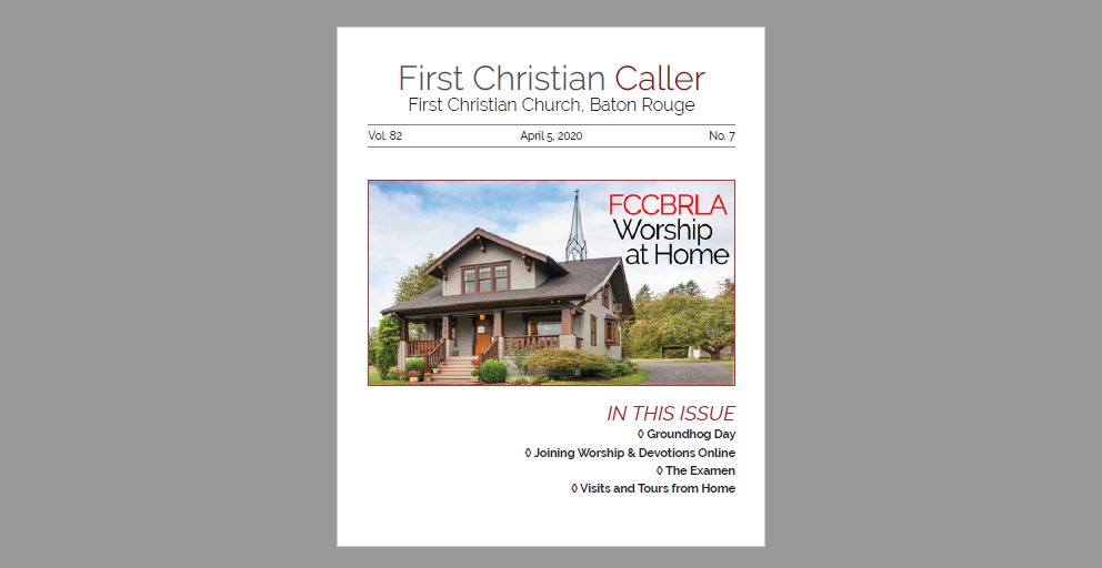 First Christian Caller - April 2, 2020