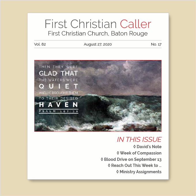 "Featured image for ""First Christian Caller – August 27, 2020"""