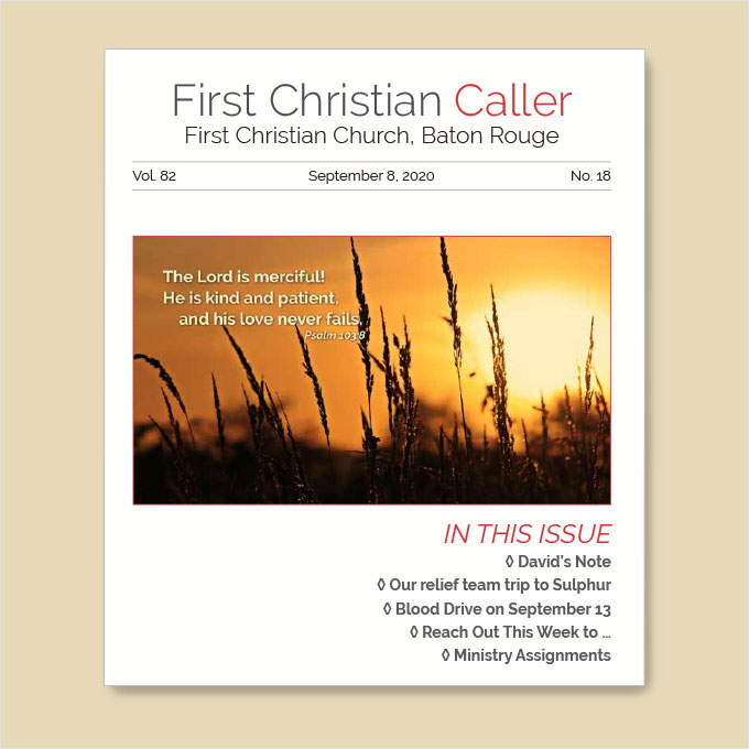 "Featured image for ""First Christian Caller – September 8, 2020"""