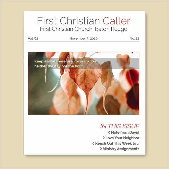 """Featured image for """"First Christian Caller – November 3, 2020"""""""