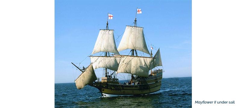 Mayflower II Under Sail