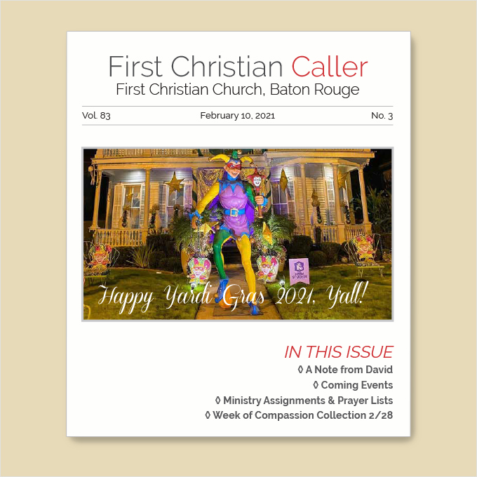 "Featured image for ""First Christian Caller – February 10, 2021"""
